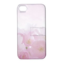 Pink Blossom Bloom Spring Romantic Apple Iphone 4/4s Hardshell Case With Stand
