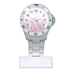 Pink Blossom Bloom Spring Romantic Plastic Nurses Watch