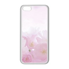 Pink Blossom Bloom Spring Romantic Apple iPhone 5C Seamless Case (White)