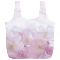 Pink Blossom Bloom Spring Romantic Full Print Recycle Bags (l)