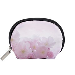 Pink Blossom Bloom Spring Romantic Accessory Pouches (Small)