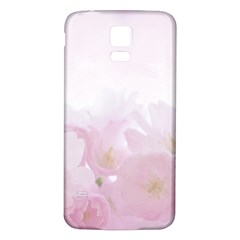 Pink Blossom Bloom Spring Romantic Samsung Galaxy S5 Back Case (white)