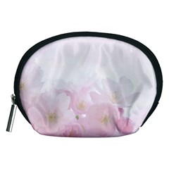 Pink Blossom Bloom Spring Romantic Accessory Pouches (Medium)