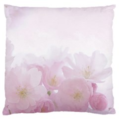 Pink Blossom Bloom Spring Romantic Standard Flano Cushion Case (two Sides)