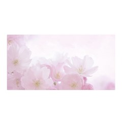 Pink Blossom Bloom Spring Romantic Satin Wrap