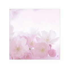Pink Blossom Bloom Spring Romantic Small Satin Scarf (Square)