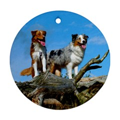 mini Australian Shepherd group Ornament (Round)