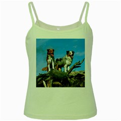 mini Australian Shepherd group Green Spaghetti Tank