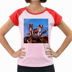 mini Australian Shepherd group Women s Cap Sleeve T-Shirt