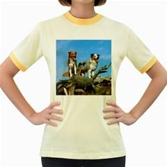 mini Australian Shepherd group Women s Fitted Ringer T-Shirts