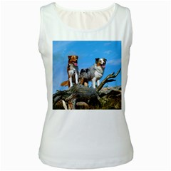 mini Australian Shepherd group Women s White Tank Top