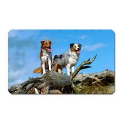 mini Australian Shepherd group Magnet (Rectangular)