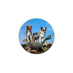 mini Australian Shepherd group Golf Ball Marker