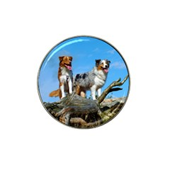 mini Australian Shepherd group Hat Clip Ball Marker (10 pack)