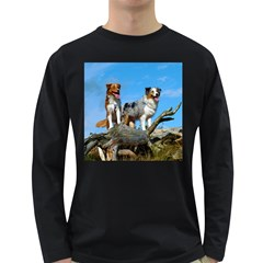 mini Australian Shepherd group Long Sleeve Dark T-Shirts