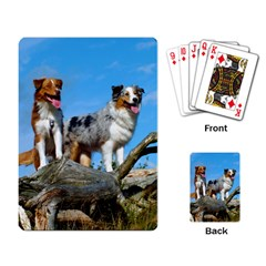 mini Australian Shepherd group Playing Card