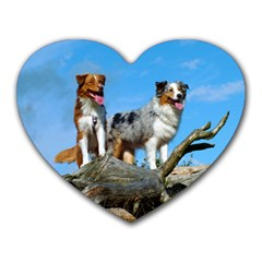 mini Australian Shepherd group Heart Mousepads