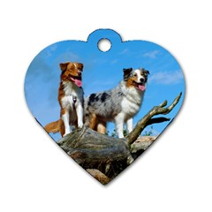 mini Australian Shepherd group Dog Tag Heart (Two Sides)