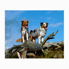 mini Australian Shepherd group Small Glasses Cloth (2-Side)