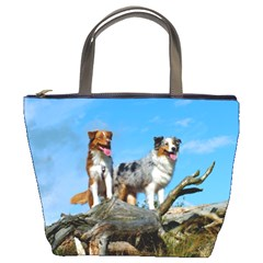 mini Australian Shepherd group Bucket Bags