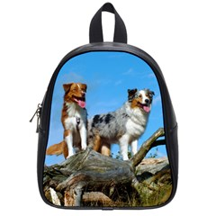 mini Australian Shepherd group School Bags (Small)