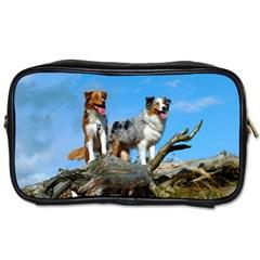 mini Australian Shepherd group Toiletries Bags