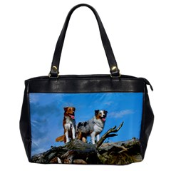 mini Australian Shepherd group Office Handbags