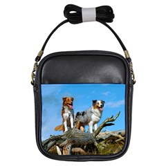 mini Australian Shepherd group Girls Sling Bags