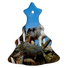 mini Australian Shepherd group Christmas Tree Ornament (Two Sides)