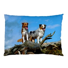 mini Australian Shepherd group Pillow Case (Two Sides)