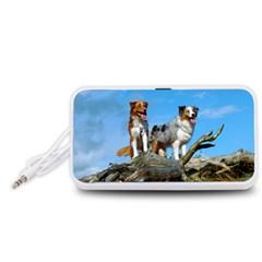 mini Australian Shepherd group Portable Speaker (White)