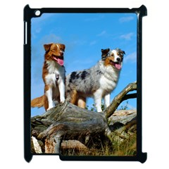 mini Australian Shepherd group Apple iPad 2 Case (Black)