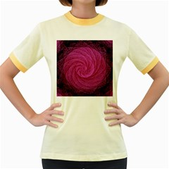 Purple Background Scrapbooking Abstract Women s Fitted Ringer T-Shirts