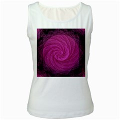 Purple Background Scrapbooking Abstract Women s White Tank Top