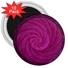 Purple Background Scrapbooking Abstract 3  Magnets (10 pack)