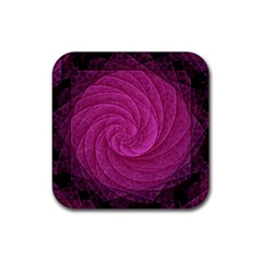 Purple Background Scrapbooking Abstract Rubber Coaster (square)