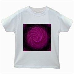 Purple Background Scrapbooking Abstract Kids White T Shirts