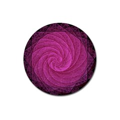 Purple Background Scrapbooking Abstract Magnet 3  (Round)