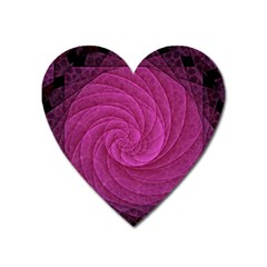 Purple Background Scrapbooking Abstract Heart Magnet