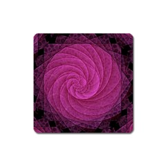 Purple Background Scrapbooking Abstract Square Magnet