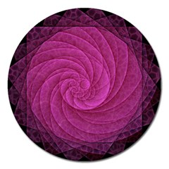Purple Background Scrapbooking Abstract Magnet 5  (Round)