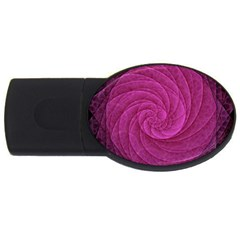 Purple Background Scrapbooking Abstract Usb Flash Drive Oval (2 Gb)