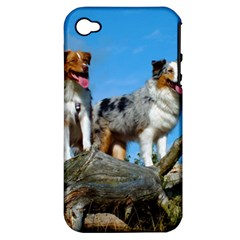 mini Australian Shepherd group Apple iPhone 4/4S Hardshell Case (PC+Silicone)