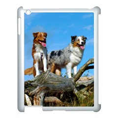 mini Australian Shepherd group Apple iPad 3/4 Case (White)
