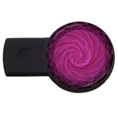 Purple Background Scrapbooking Abstract Usb Flash Drive Round (4 Gb)