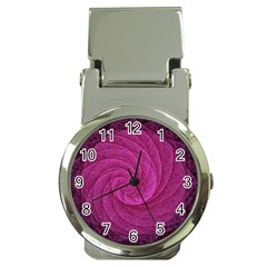 Purple Background Scrapbooking Abstract Money Clip Watches