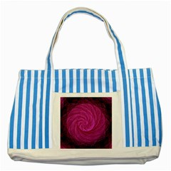 Purple Background Scrapbooking Abstract Striped Blue Tote Bag