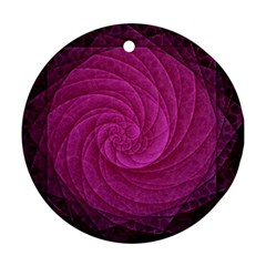 Purple Background Scrapbooking Abstract Round Ornament (Two Sides)