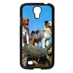 mini Australian Shepherd group Samsung Galaxy S4 I9500/ I9505 Case (Black)