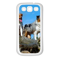 mini Australian Shepherd group Samsung Galaxy S3 Back Case (White)